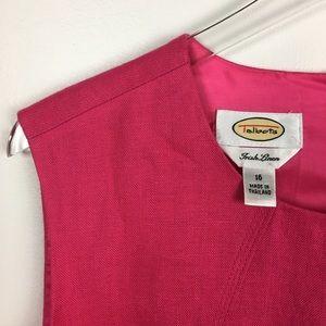 Talbots Irish Linen Sleeveless Midi Dress | 16
